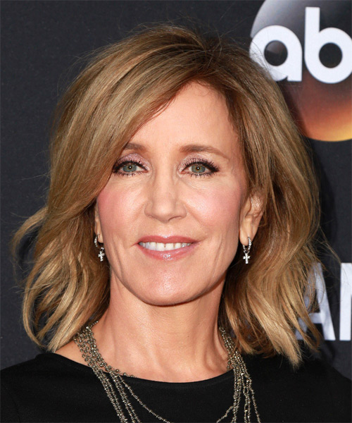 Felicity Huffman Medium Straight Casual   Hairstyle   - Light Brunette (Caramel)