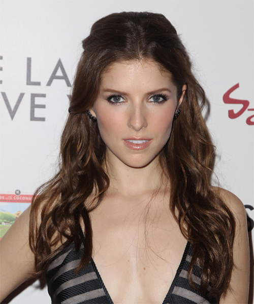 Anna Kendrick Long Wavy Casual   Hairstyle   - Medium Brunette (Chocolate)
