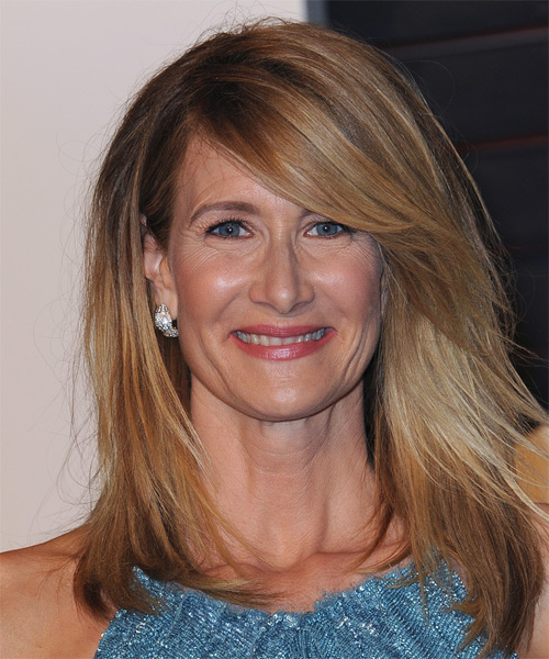 Laura Dern Long Straight Blonde Hairstyle.