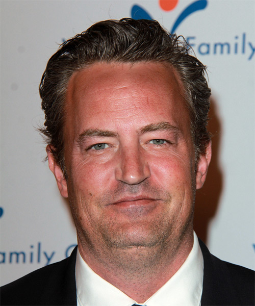 Matthew Perry Short Straight Formal   Hairstyle   - Medium Brunette