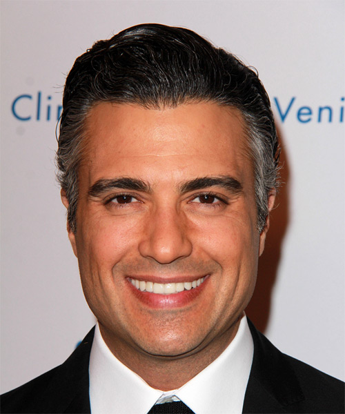 Jaime Camil Short Straight Formal   Hairstyle   - Dark Grey