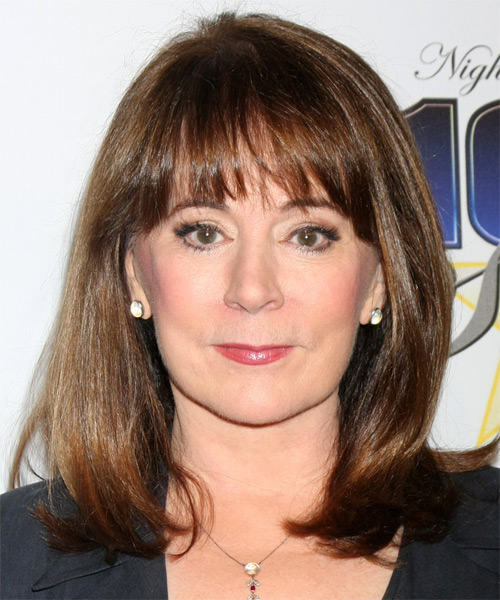 Patricia Heaton Medium Straight Casual Bob  Hairstyle   - Medium Brunette