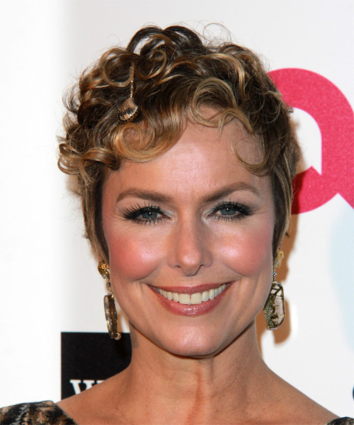 Melora Hardin Short Curly Formal    Hairstyle   - Dark Blonde Hair Color