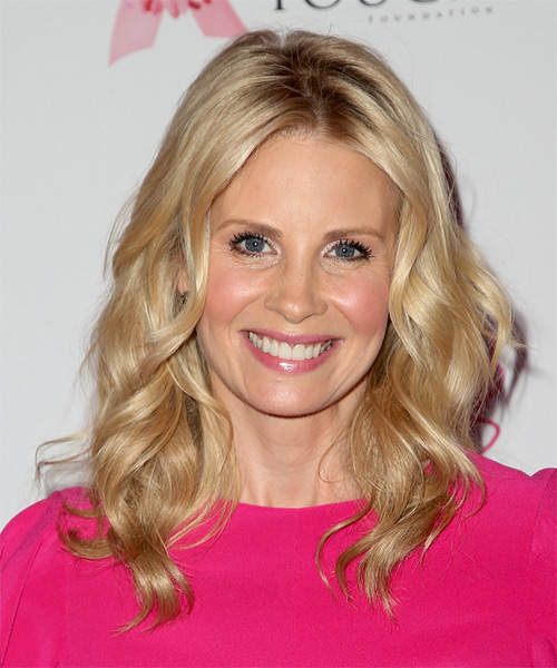 Monica Potter Long Wavy Casual    Hairstyle   -  Golden Blonde Hair Color with Light Blonde Highlights