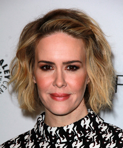 Sarah Paulson Medium Straight Casual    Hairstyle   - Dark Blonde Hair Color
