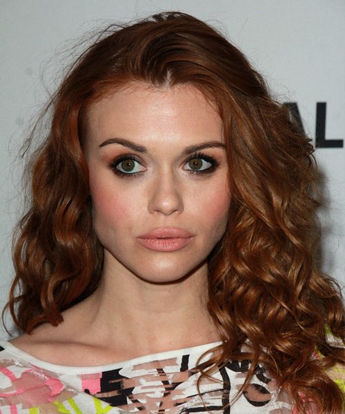 Holland Roden Long Curly Casual    Hairstyle   -  Red Hair Color