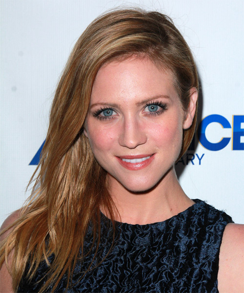 Brittany Snow Long Straight Casual    Hairstyle   -  Brunette Hair Color