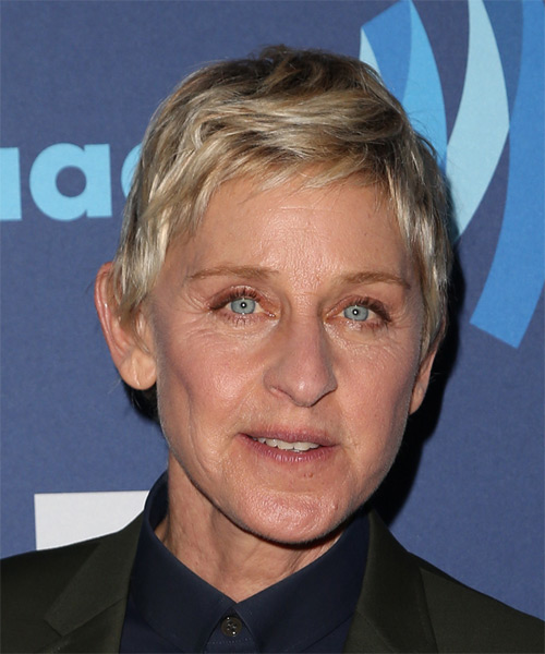 Ellen DeGeneres Short Straight Casual    Hairstyle   - Medium Blonde Hair Color