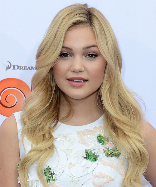 Olivia Holt Long Wavy Formal    Hairstyle   - Light Honey Blonde Hair Color