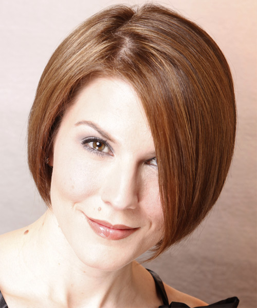 Medium Straight Formal  Bob  Hairstyle   - Chestnut Hair Color