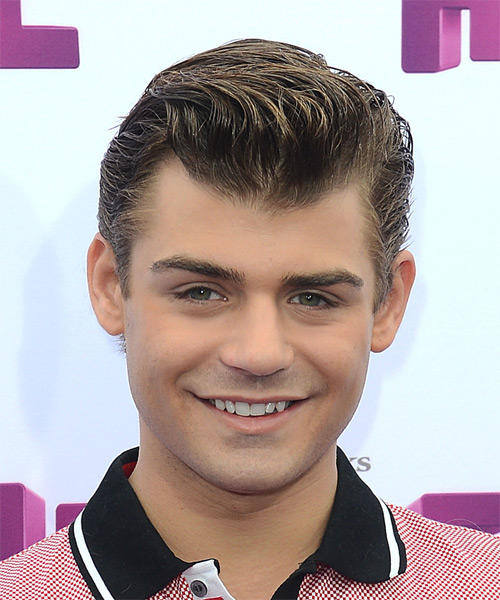 Garrett Clayton Short Straight Formal   Hairstyle   - Medium Brunette