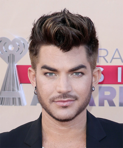 Adam Lambert Short Straight Casual    Hairstyle   - Dark Mocha Brunette Hair Color