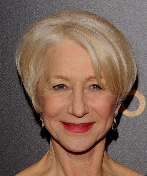 Helen Mirren Short Straight Formal Hairstyle Light