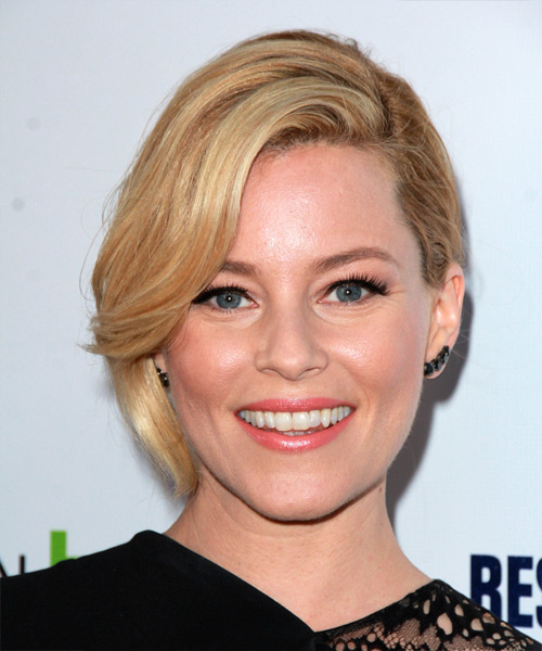 Elizabeth Banks Medium Wavy Formal  Updo Hairstyle   (Honey)