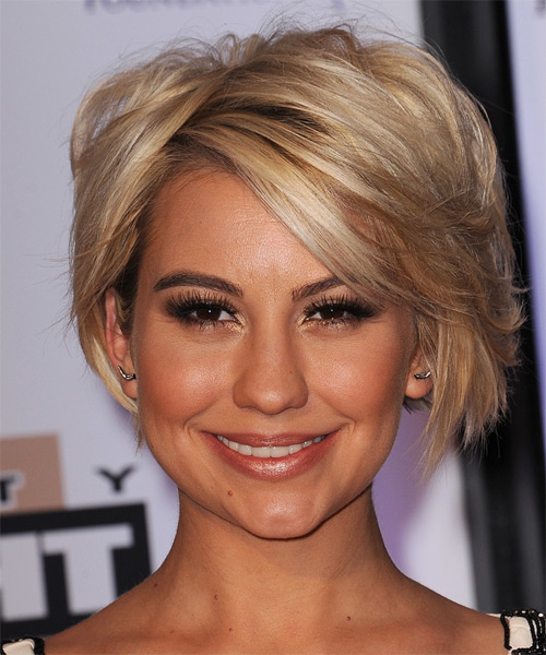 Chelsea Kane Short Straight Casual   Hairstyle   - Medium Brunette (Honey)