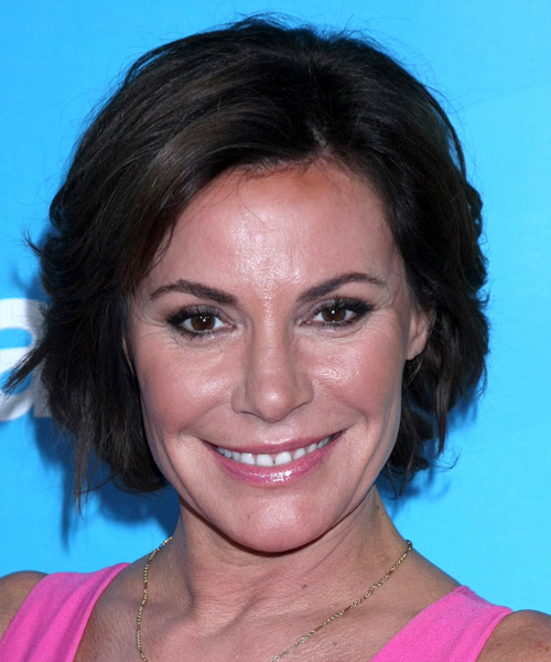 Luann De Lesseps Short Straight Casual    Hairstyle   - Dark Brunette Hair Color