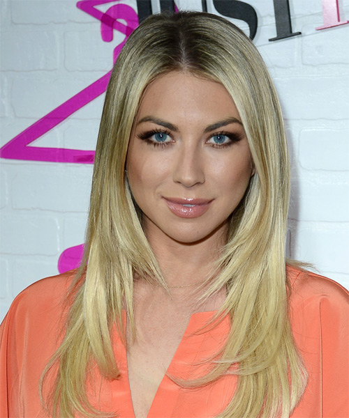 Stassi Schroeder Long Straight Formal   Hairstyle   - Light Blonde