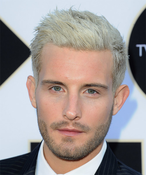 Nico Tortorella Short Straight Casual    Hairstyle   - Light Platinum Blonde Hair Color