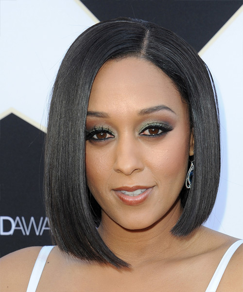 Tia Mowry Medium Straight Formal Bob  Hairstyle