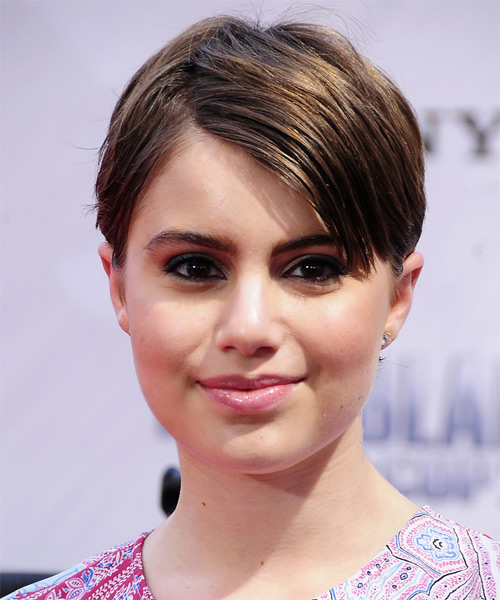 Sami Gayle Short Straight Casual   Hairstyle   - Medium Brunette