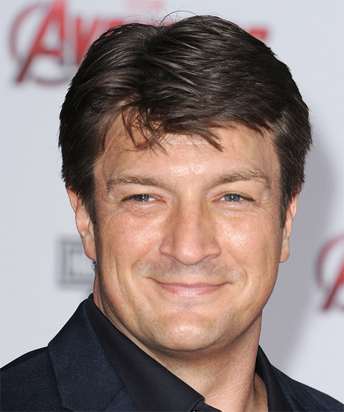 Nathan Fillion Short Straight Casual   Hairstyle   (Chocolate)