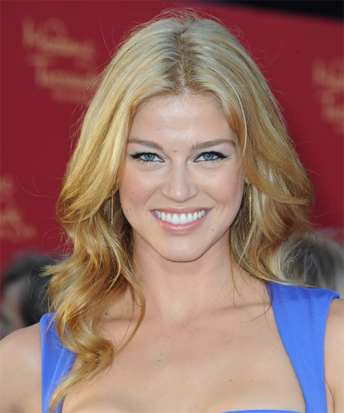 Adrianne Palicki Long Wavy Casual    Hairstyle   -  Blonde Hair Color with Light Blonde Highlights