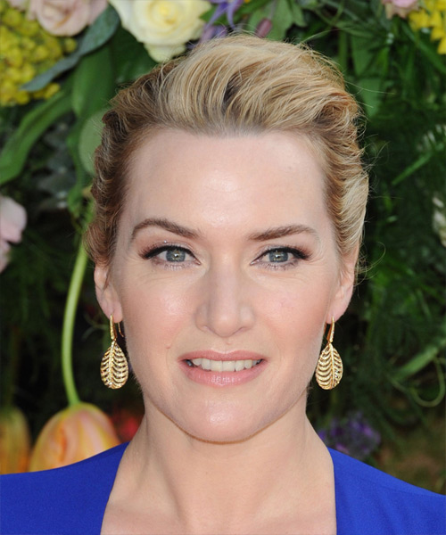 Kate Winslet Long Straight Formal Wedding Updo Hairstyle   - Medium Blonde