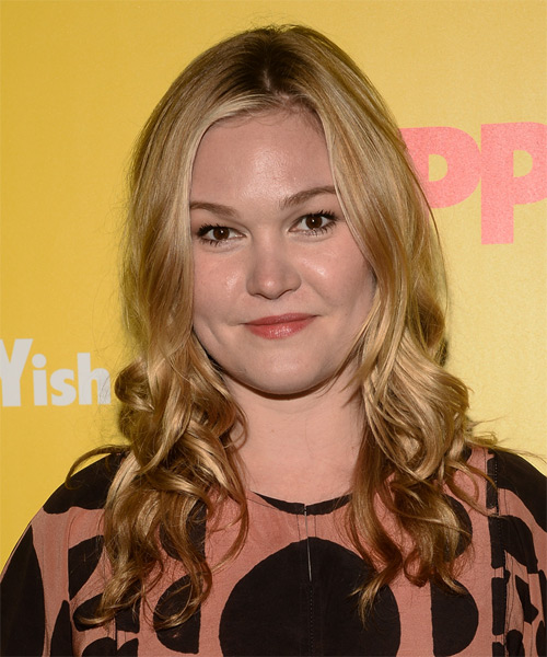 Julia Stiles Long Wavy Casual   Hairstyle   - Medium Blonde