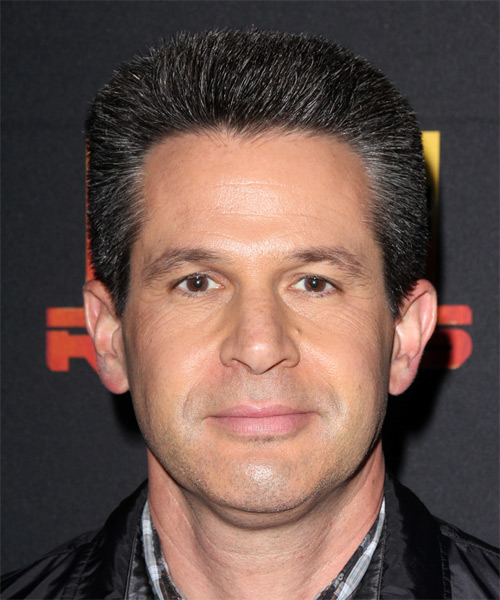 Simon Kinberg Short Straight Formal   Hairstyle