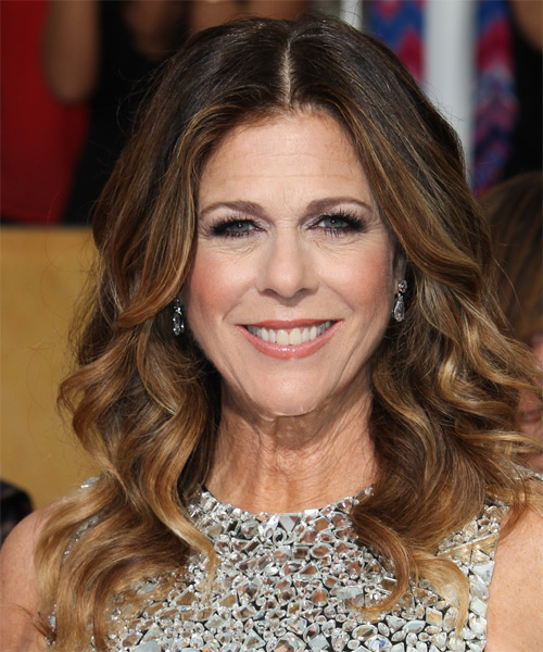 Rita Wilson Long Wavy Formal    Hairstyle