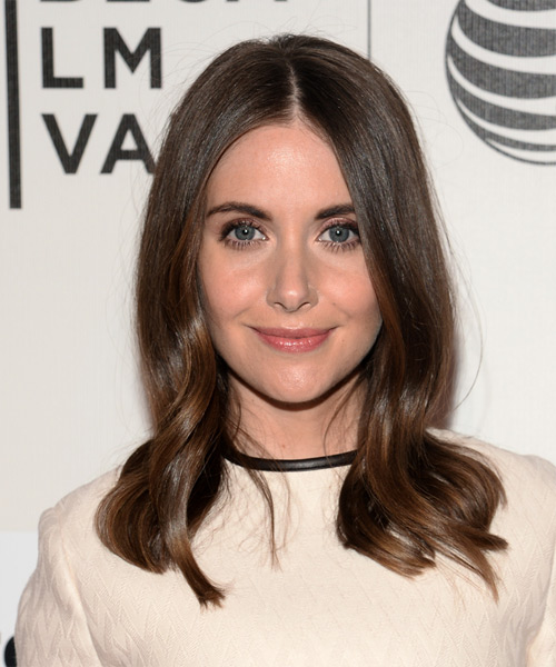 Alison Brie Medium Straight Formal   Hairstyle