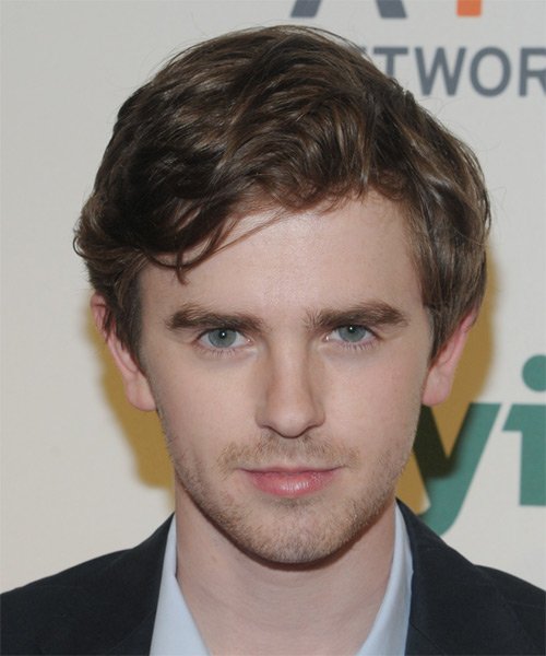 Freddie Highmore Short Wavy Casual   Hairstyle   - Medium Brunette