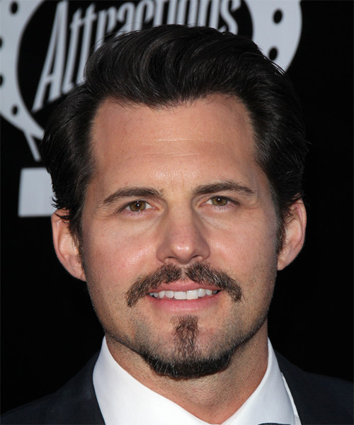 Kristoffer Polaha Short Straight Formal    Hairstyle   - Dark Brunette Hair Color