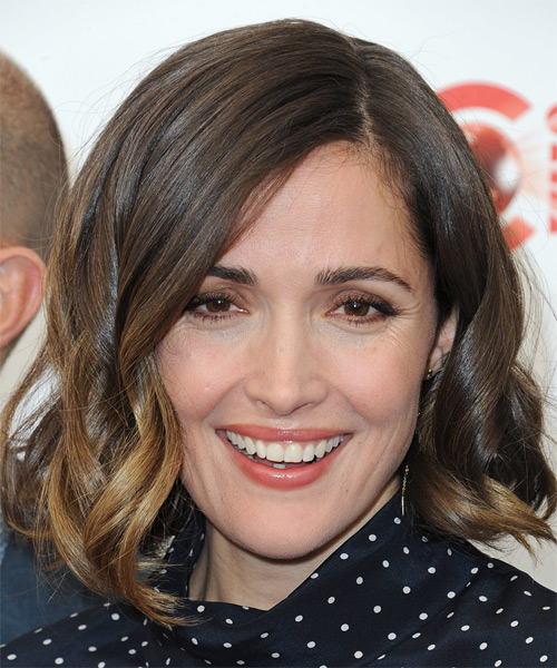 Rose Byrne Medium Wavy    Brunette Bob  Haircut