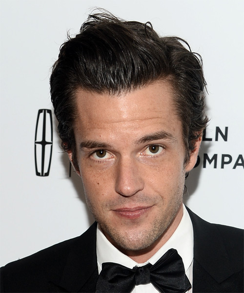 Brandon Flowers Short Straight Formal   Hairstyle   - Dark Brunette