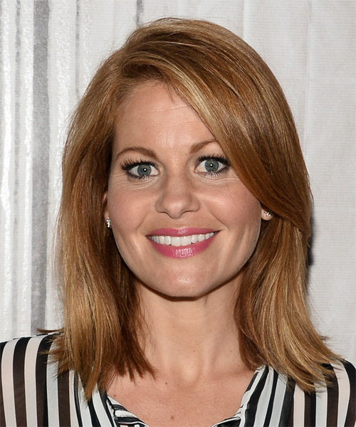 Candace Cameron Bure Medium Straight Casual    Hairstyle   - Light Golden Brunette Hair Color