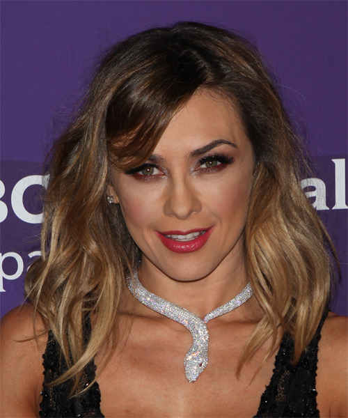 Aracely Arambula Long Wavy Casual Hairstyle Dark Brunette