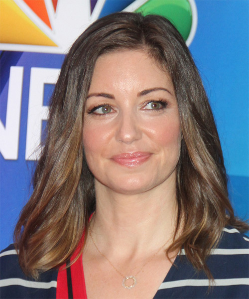 Bianca Kajlich Medium Straight Casual   Hairstyle   - Medium Brunette