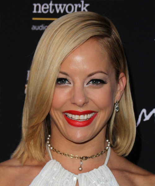 Amy Paffrath Medium Straight Formal    Hairstyle   -  Blonde Hair Color