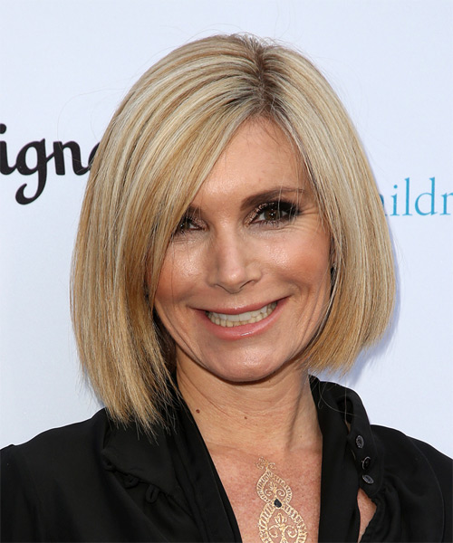 Eden Sassoon Medium Straight Formal Bob  Hairstyle   - Medium Blonde