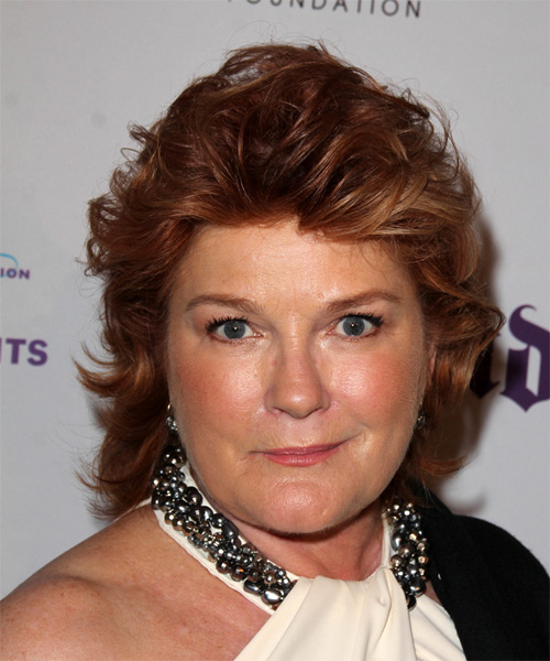 Kate Mulgrew Short Straight Casual   Hairstyle   - Medium Red (Mahogany)