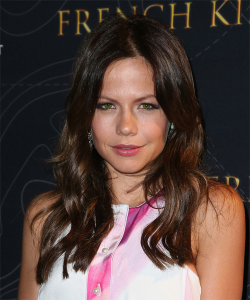 Tammin Sursok Long Wavy Casual   Hairstyle   - Dark Brunette