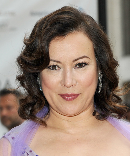 Jennifer Tilly Medium Wavy Formal   Hairstyle   (Mocha)