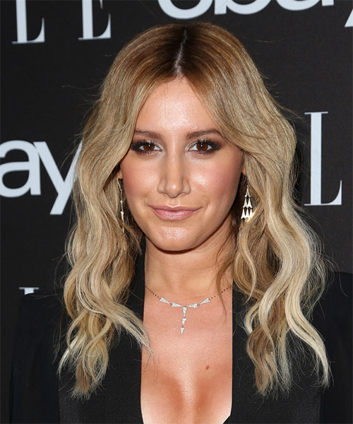 Ashley Tisdale Long Wavy Casual   Hairstyle   - Medium Blonde