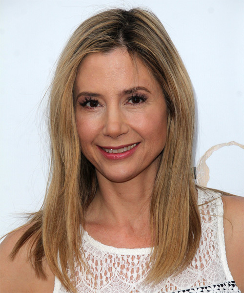 Mira Sorvino Long Straight Casual   Hairstyle   - Dark Blonde