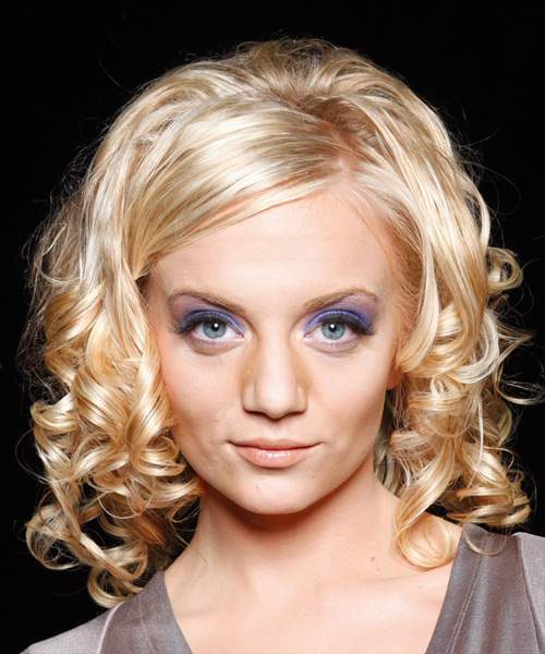 Long Curly Formal   Hairstyle   - Light Blonde (Honey)