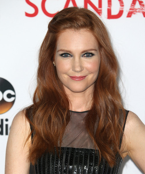 Darby Stanchfield Long Wavy Casual   Hairstyle   - Medium Red