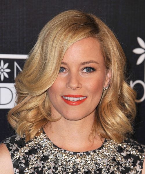 Elizabeth Banks Medium Wavy Formal   Hairstyle   - Dark Blonde (Golden)