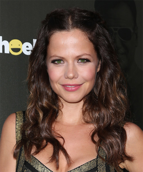 Tammin Sursok Long Wavy Casual   Hairstyle   - Dark Brunette (Mocha)