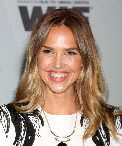 Arielle Kebbel Long Straight Casual   Hairstyle   - Light Brunette (Golden)